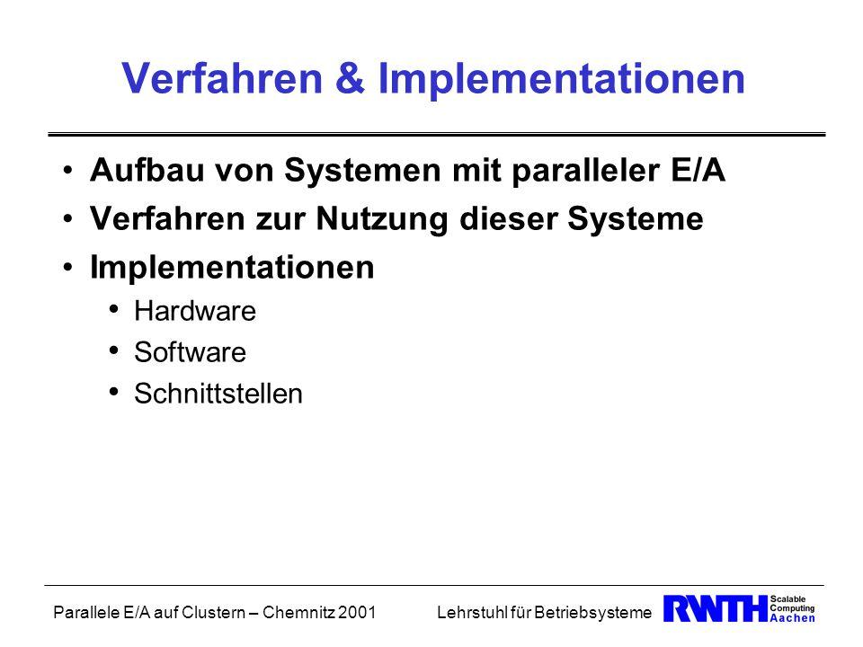 Verfahren & Implementationen