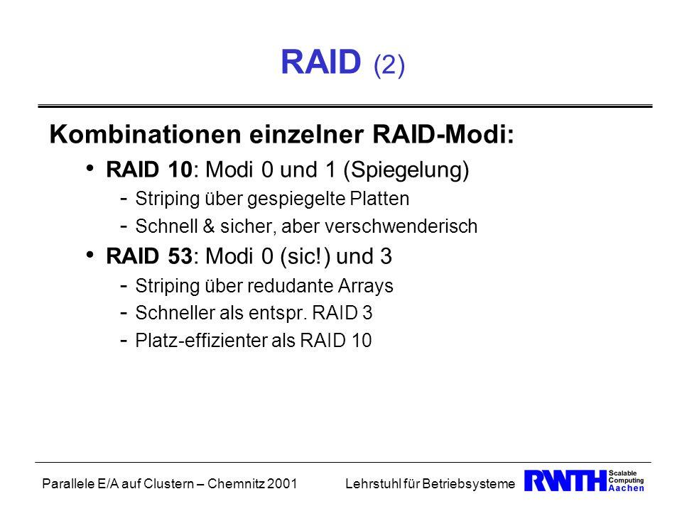 RAID (2) Kombinationen einzelner RAID-Modi: