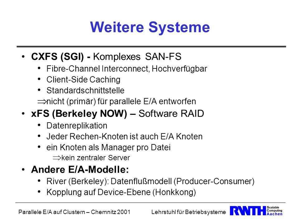 Weitere Systeme CXFS (SGI) - Komplexes SAN-FS