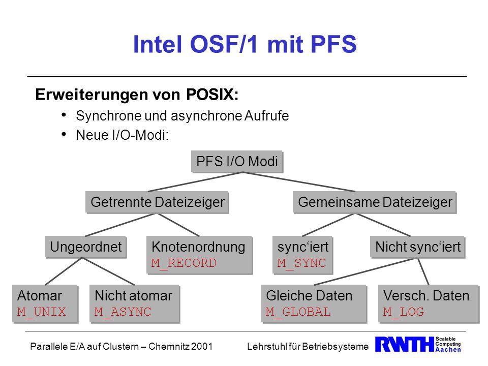 Intel OSF/1 mit PFS Erweiterungen von POSIX: