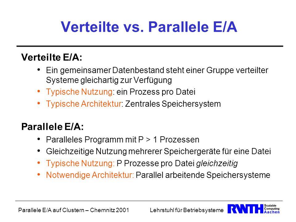 Verteilte vs. Parallele E/A