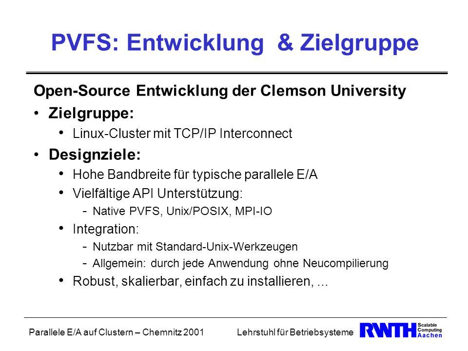 PVFS: Entwicklung & Zielgruppe