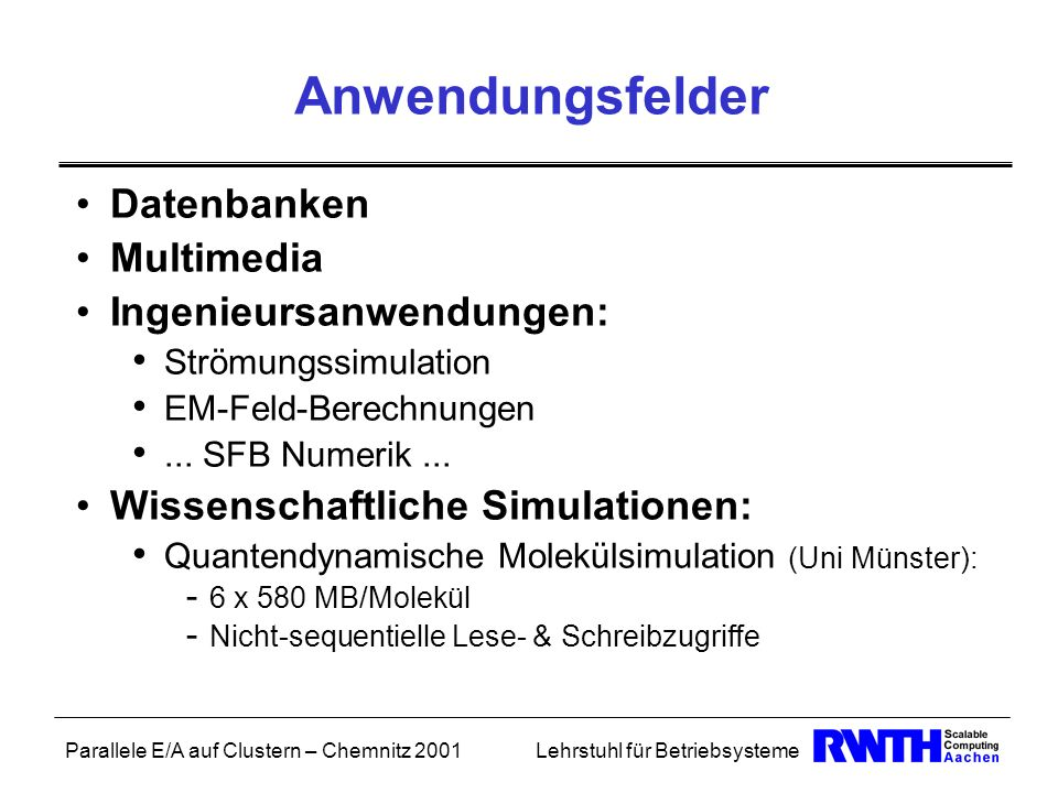 Anwendungsfelder Datenbanken Multimedia Ingenieursanwendungen:
