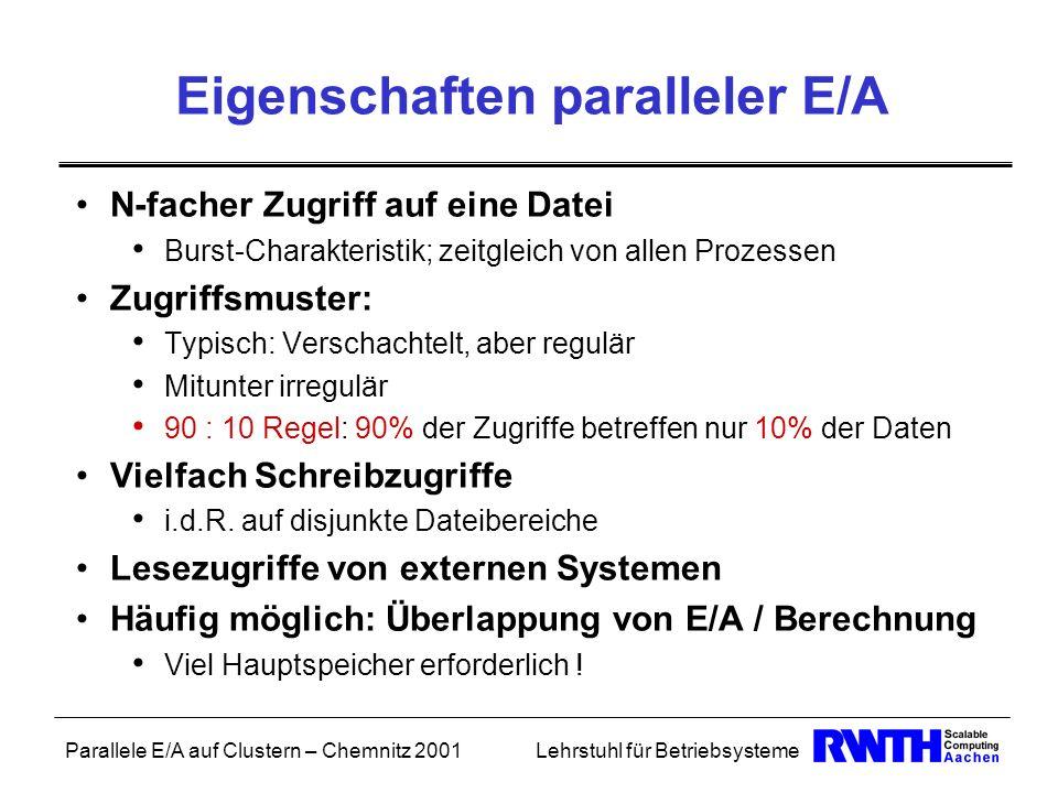 Eigenschaften paralleler E/A