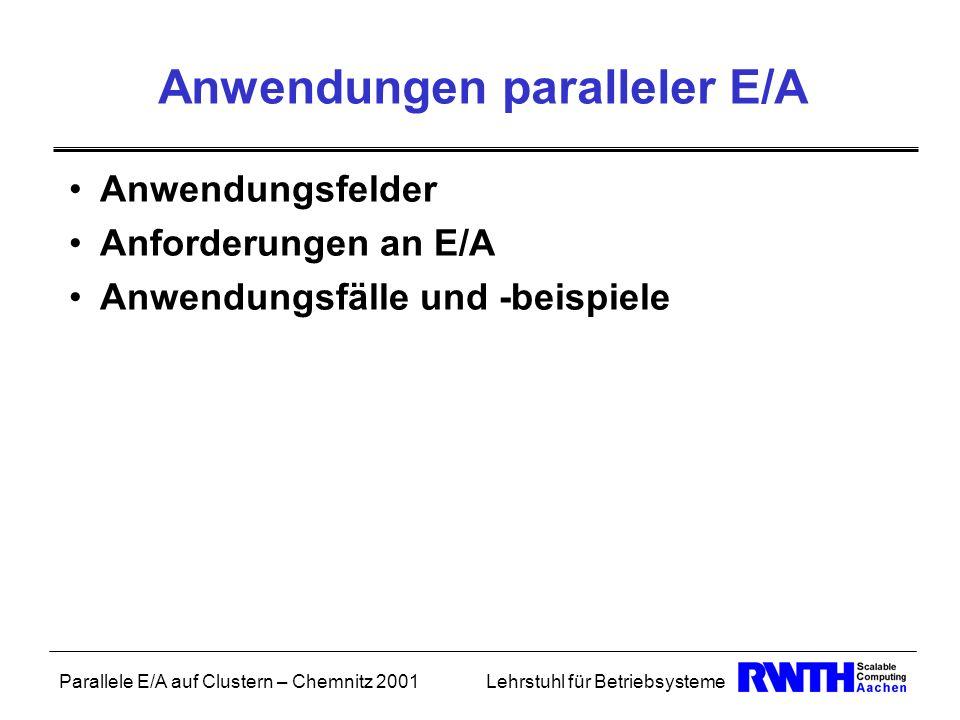 Anwendungen paralleler E/A