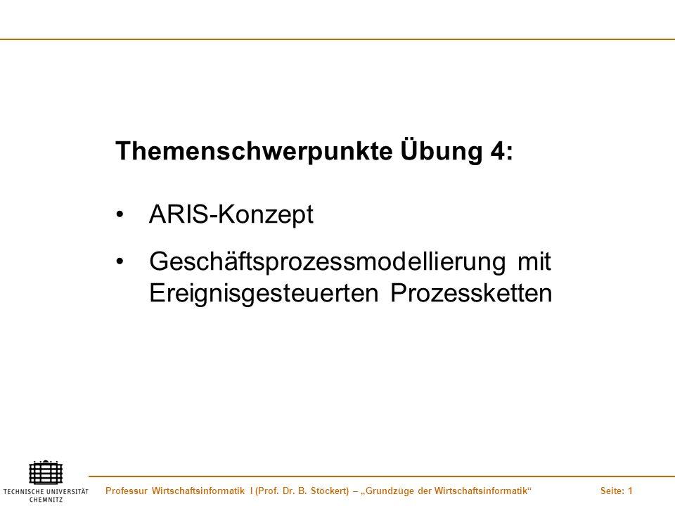 Themenschwerpunkte Übung 4: