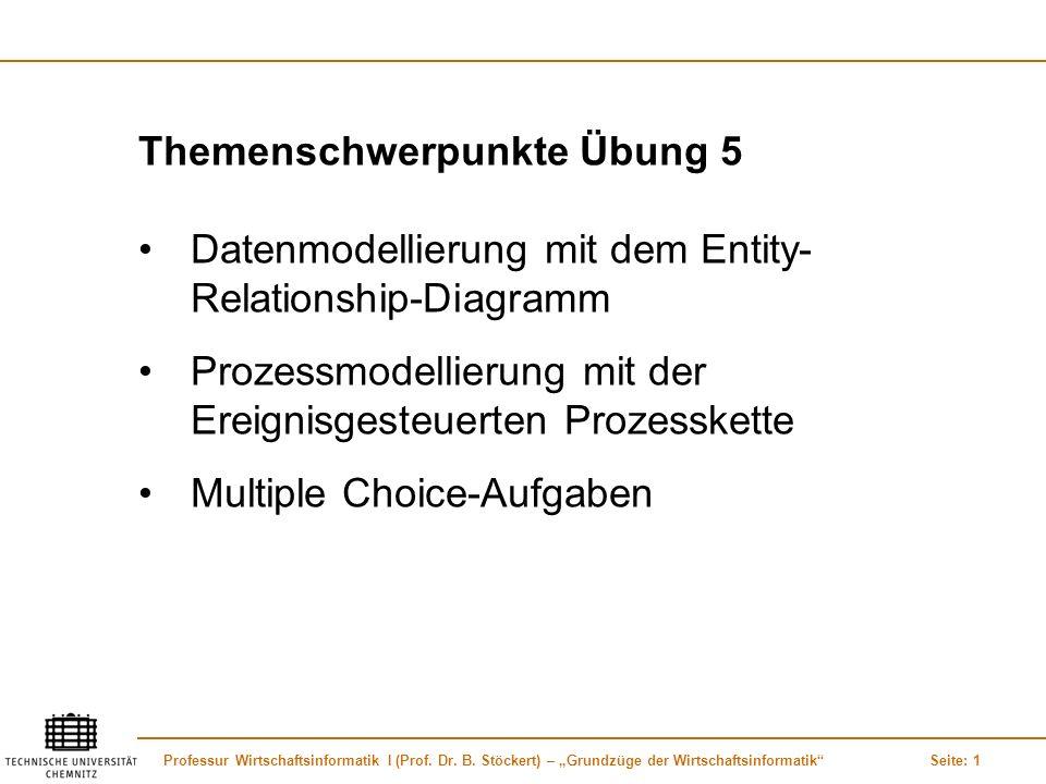 Themenschwerpunkte Übung 5