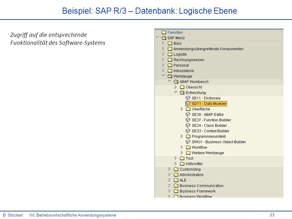 Beispiel: SAP R/3 – Datenbank: Logische Ebene