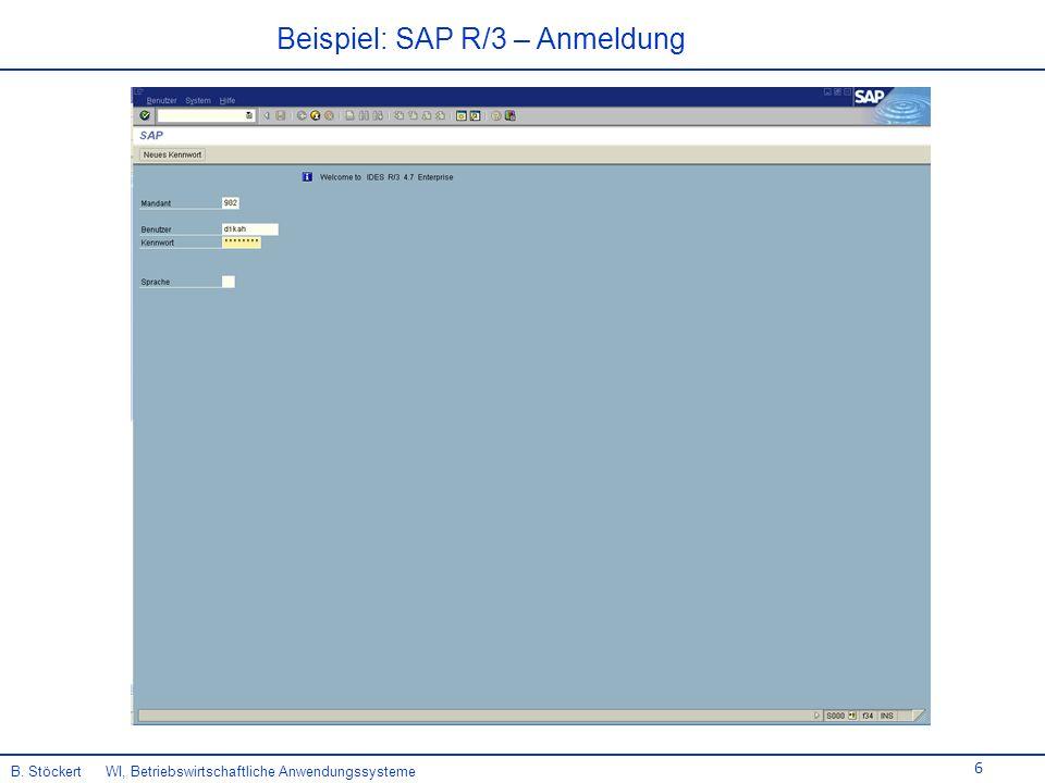 Beispiel: SAP R/3 – Anmeldung