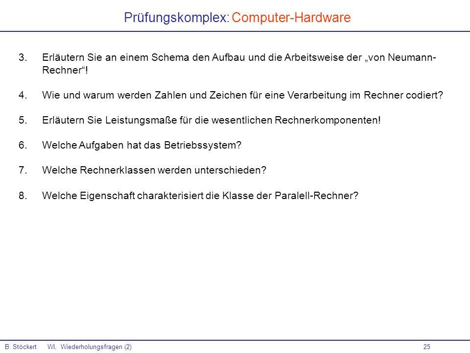 Prüfungskomplex: Computer-Hardware