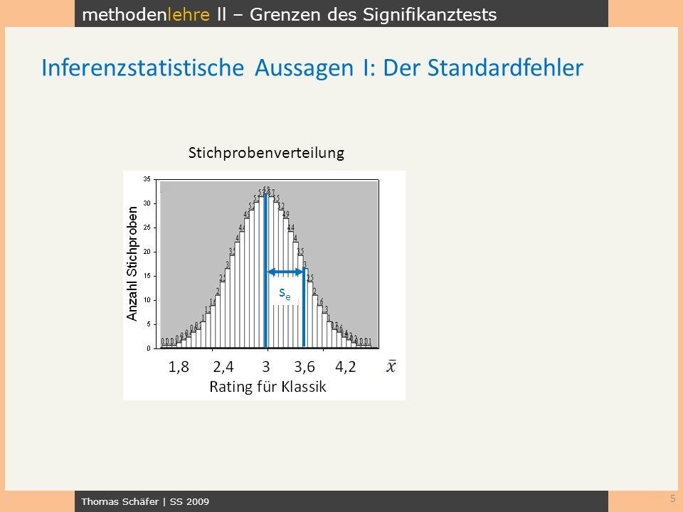 Inferenzstatistische Aussagen I: Der Standardfehler