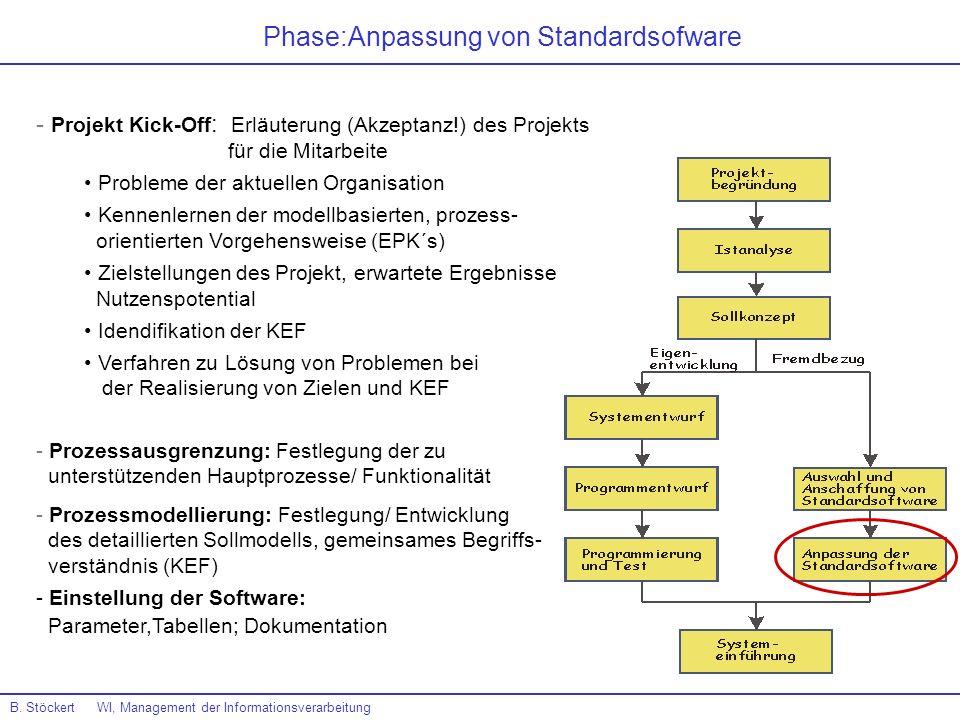 Phase:Anpassung von Standardsofware