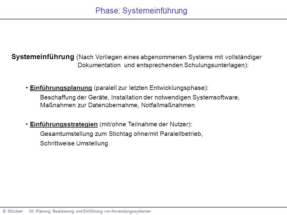 Phase: Systemeinführung