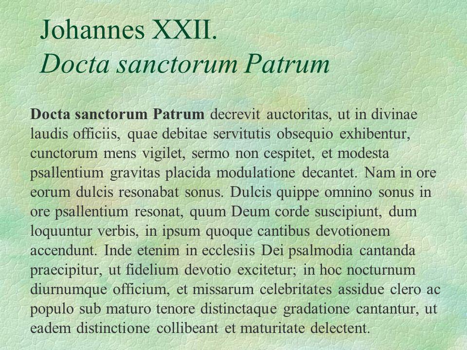 Johannes XXII. Docta sanctorum Patrum