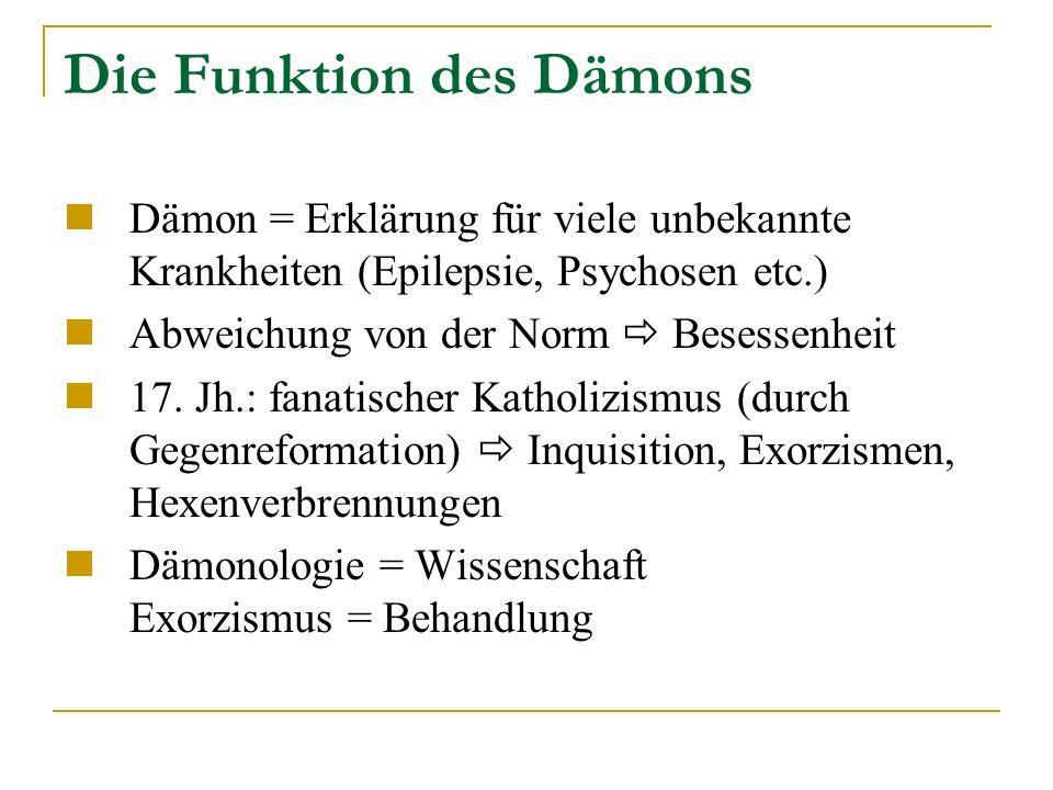 Die Funktion des Dämons