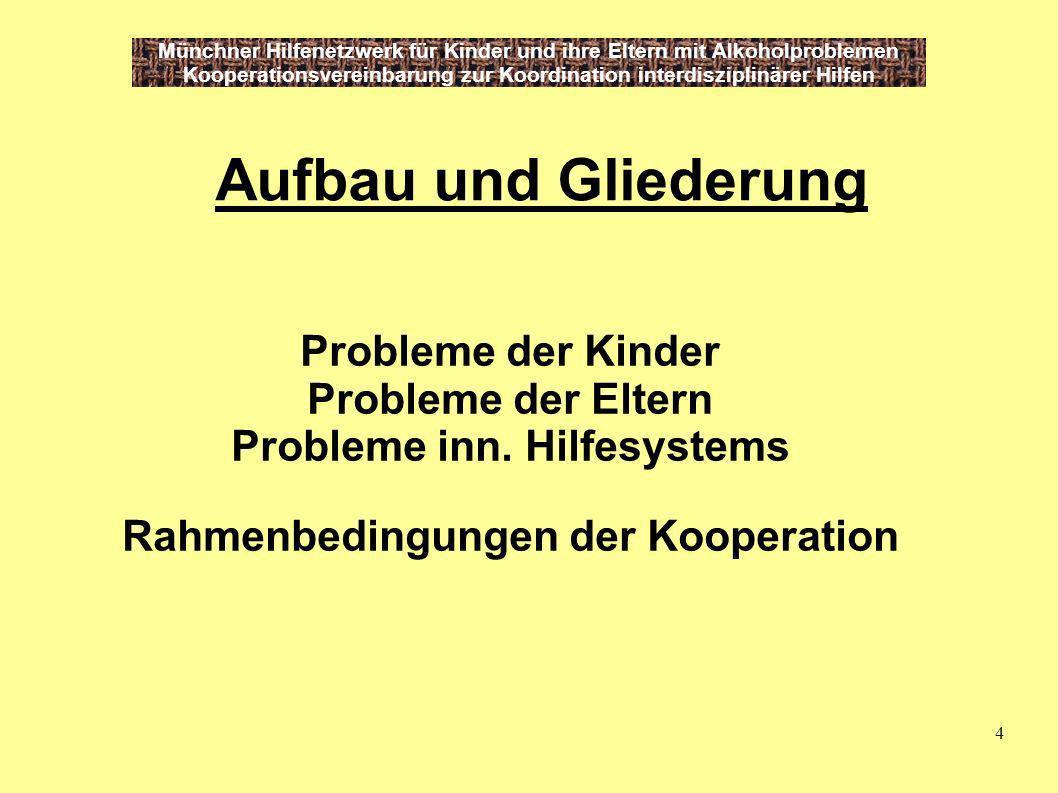 Probleme inn. Hilfesystems Rahmenbedingungen der Kooperation