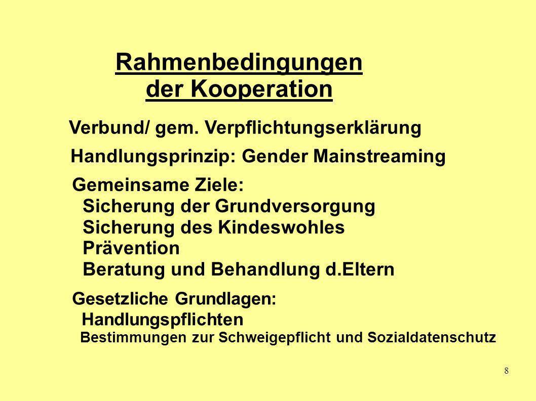 Rahmenbedingungen der Kooperation