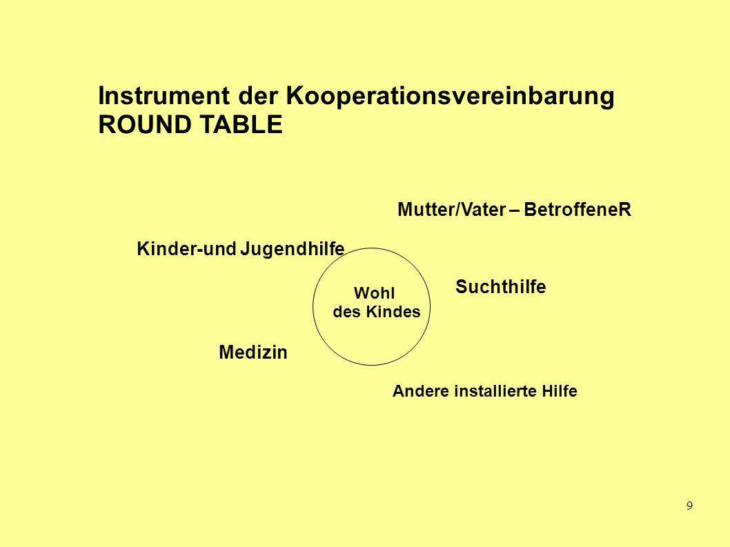 Instrument der Kooperationsvereinbarung ROUND TABLE
