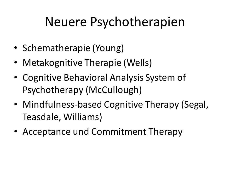 Neuere Psychotherapien