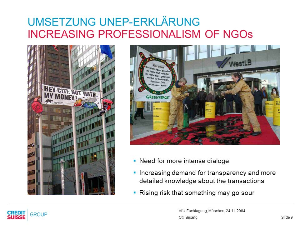 UMSETZUNG UNEP-ERKLÄRUNG INCREASING PROFESSIONALISM OF NGOs