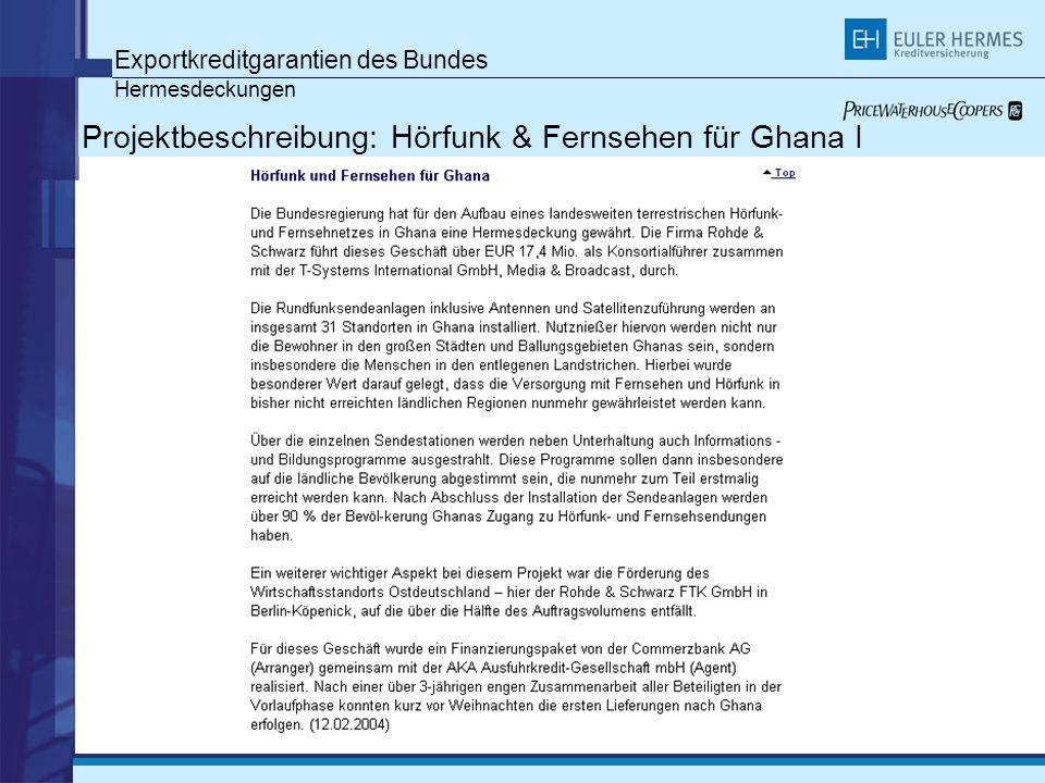Projektbeschreibung: Hörfunk & Fernsehen für Ghana I