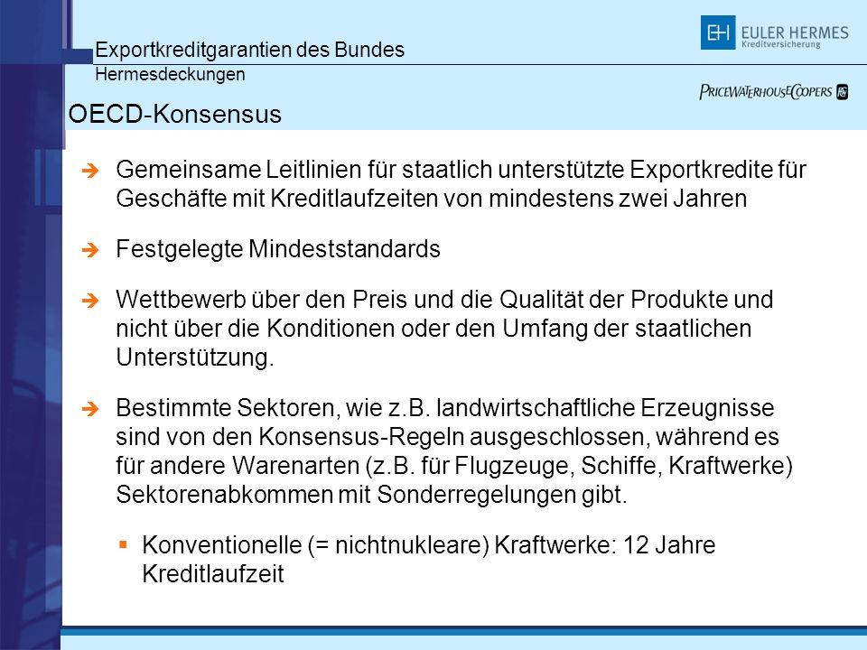 OECD-Konsensus Exportkreditgarantien des Bundes