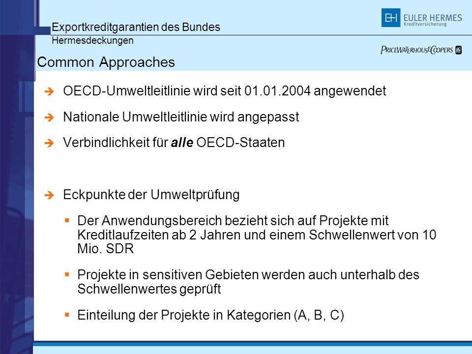 Common Approaches Exportkreditgarantien des Bundes