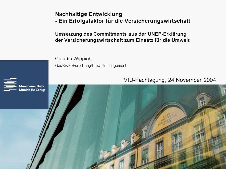Claudia Wippich GeoRisikoForschung/Umweltmanagement