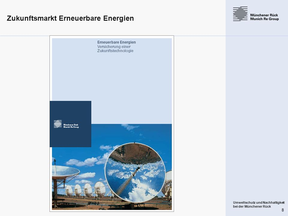 Zukunftsmarkt Erneuerbare Energien