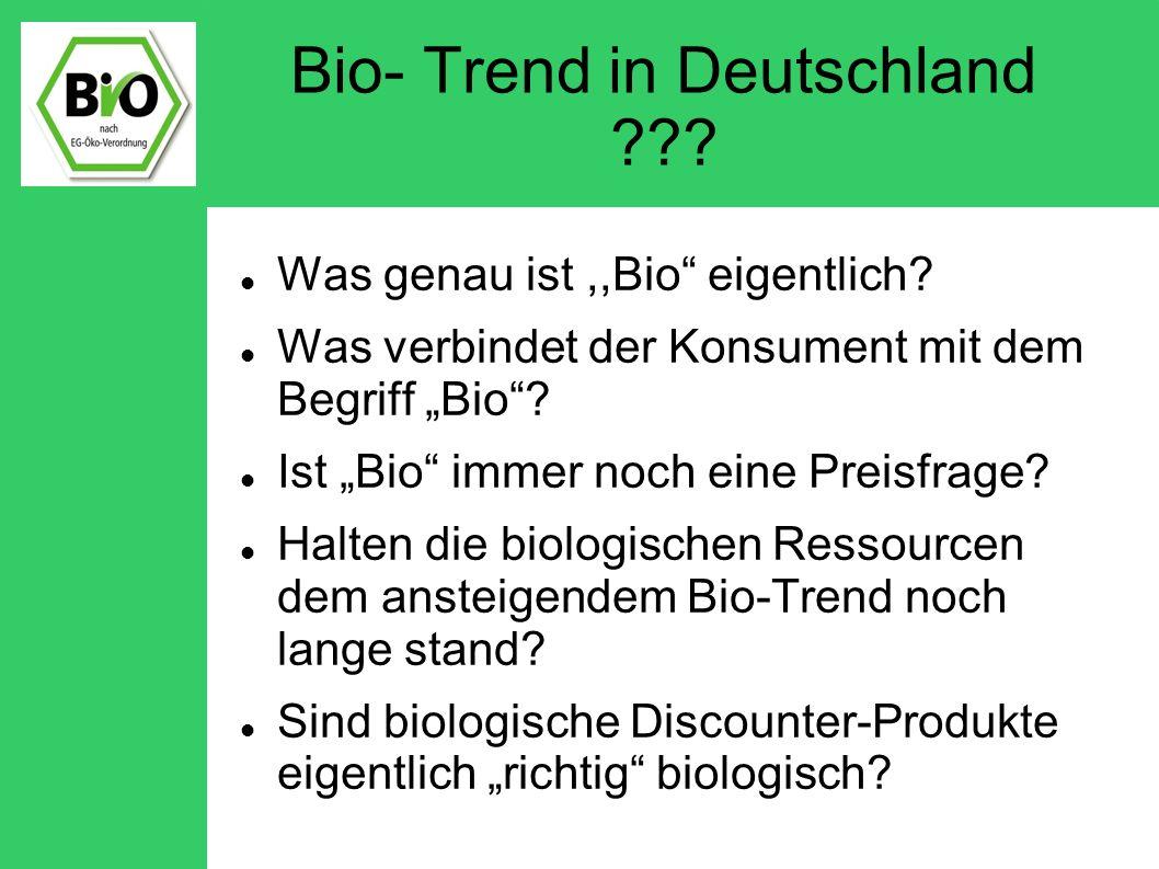 Bio- Trend in Deutschland