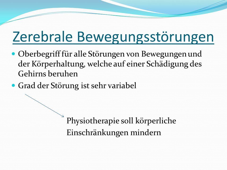 Zerebrale Bewegungsstörungen