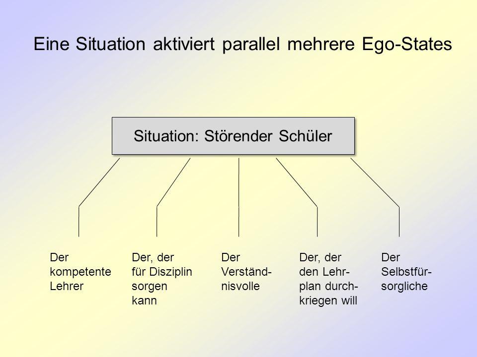 Eine Situation aktiviert parallel mehrere Ego-States