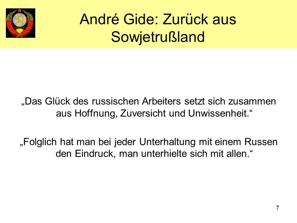 André Gide: Zurück aus Sowjetrußland