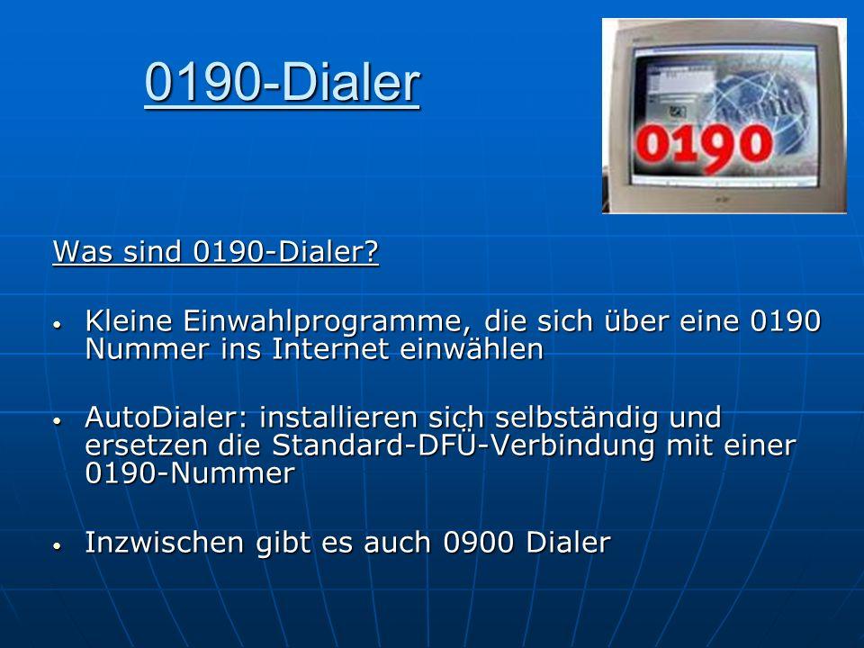 0190-Dialer Was sind 0190-Dialer