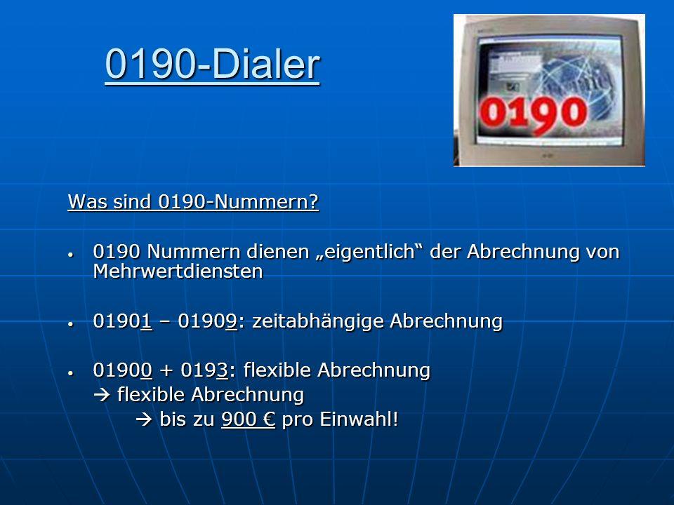 0190-Dialer Was sind 0190-Nummern