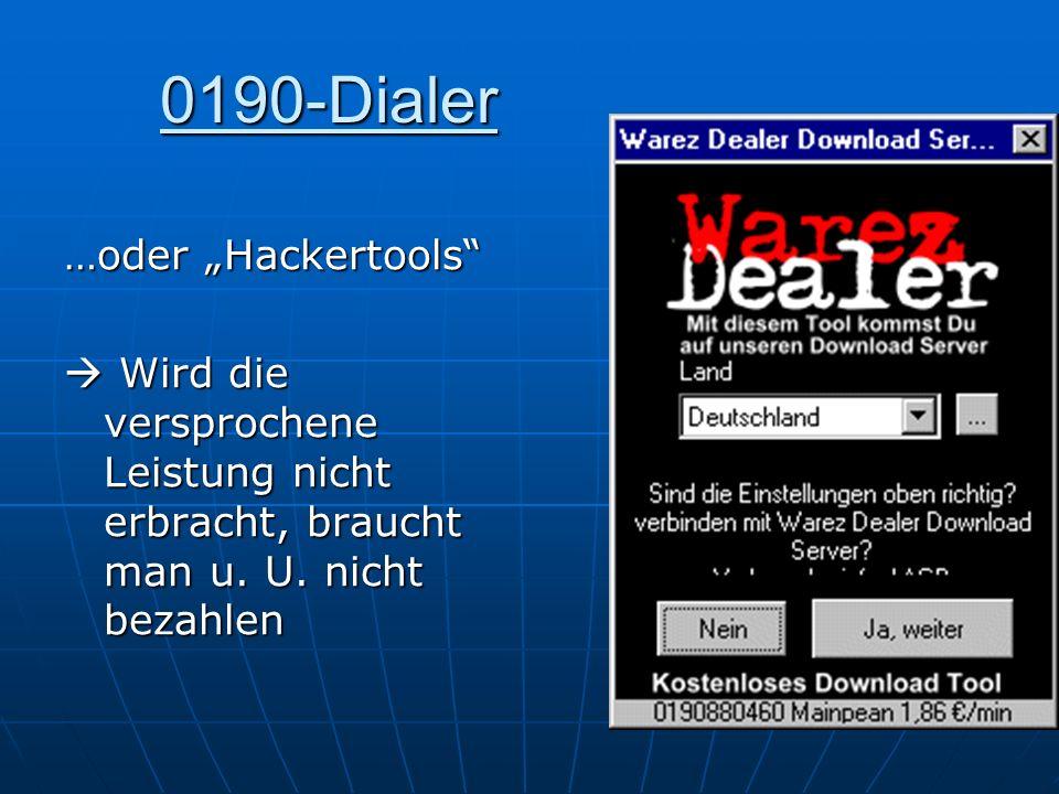 """0190-Dialer …oder """"Hackertools"""