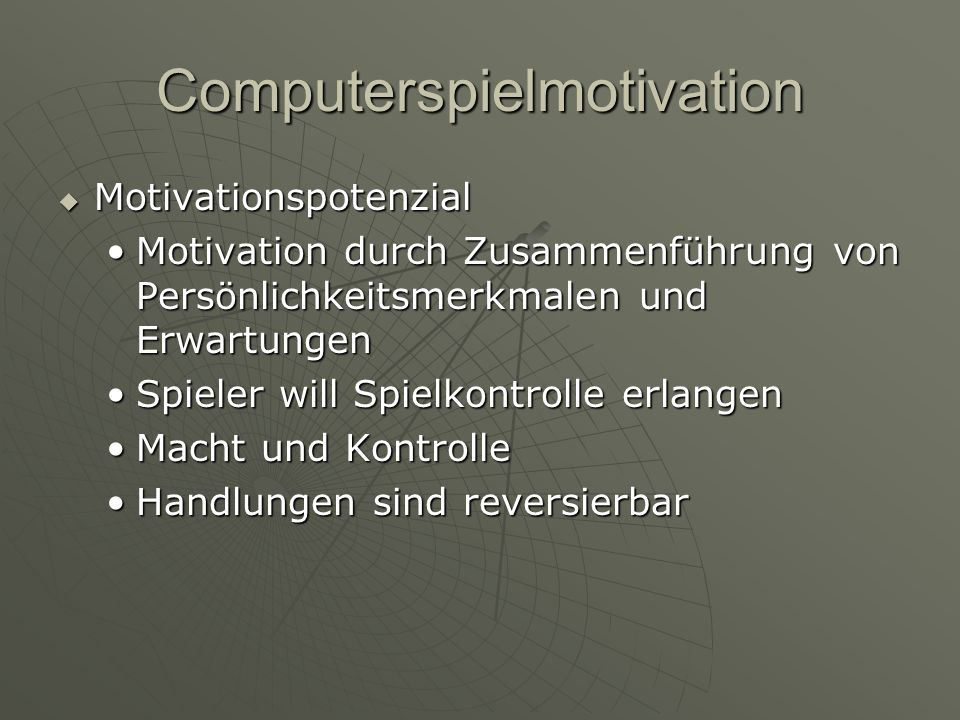 Computerspielmotivation