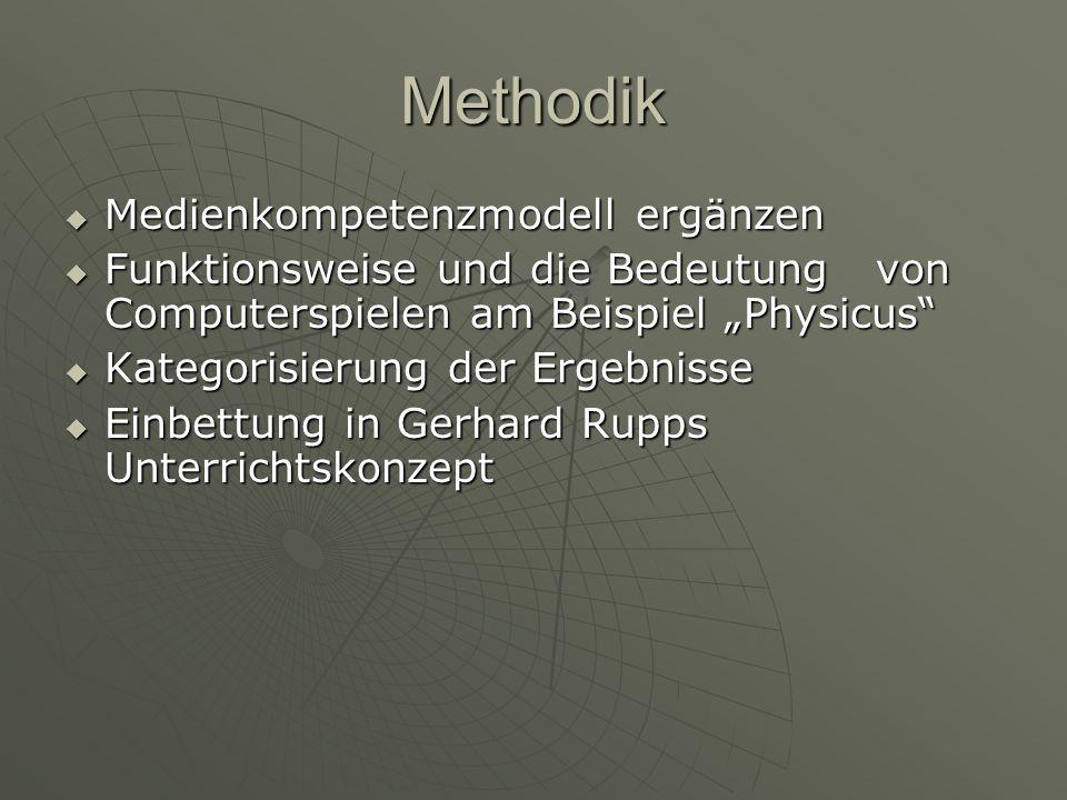 Methodik Medienkompetenzmodell ergänzen