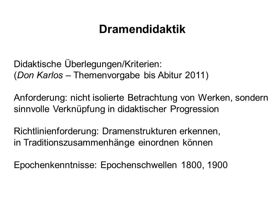 Dramendidaktik Didaktische Überlegungen/Kriterien: