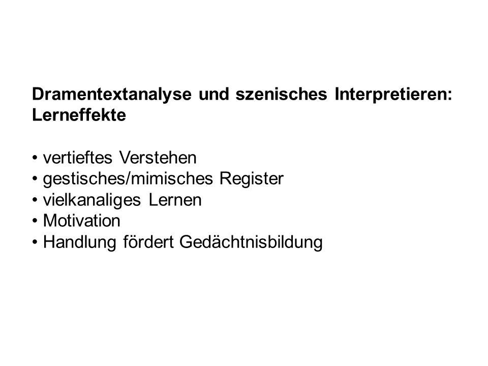 Dramentextanalyse und szenisches Interpretieren: