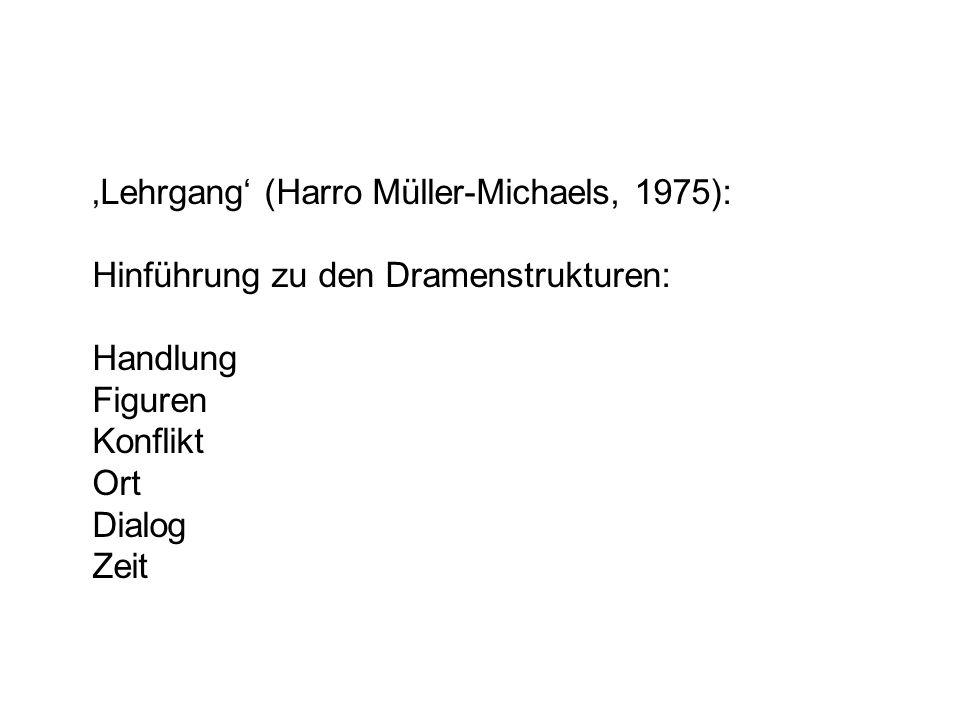 'Lehrgang' (Harro Müller-Michaels, 1975):