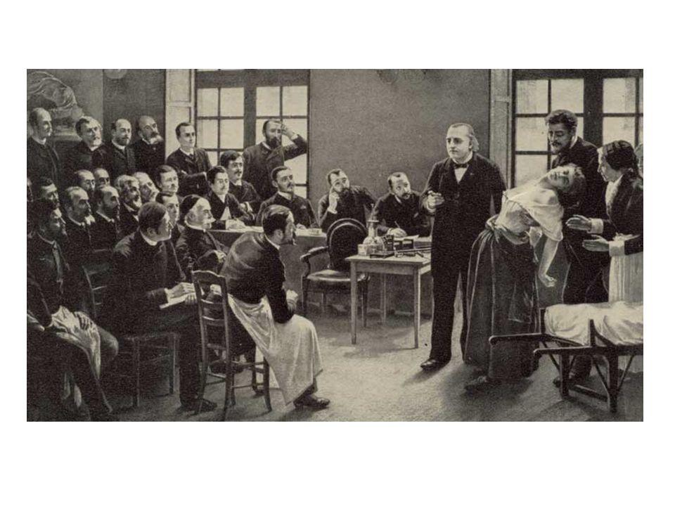 Charcot: Hysterie-Vorlesung, Salpetrière, um 1895