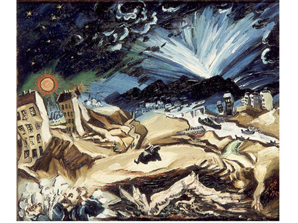 Ludwig Meidner: Apokalyptische Landschaft (1913), Öl auf Leinwand, ca