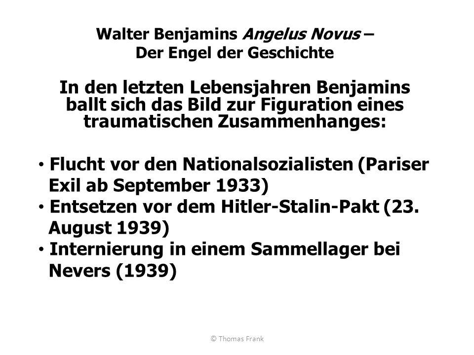Walter Benjamins Angelus Novus – Der Engel der Geschichte