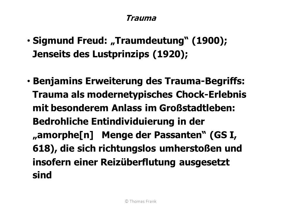 """Sigmund Freud: """"Traumdeutung (1900);"""