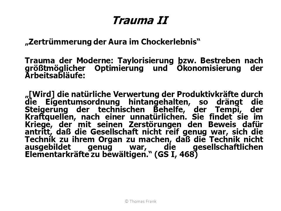 """Trauma II """"Zertrümmerung der Aura im Chockerlebnis"""