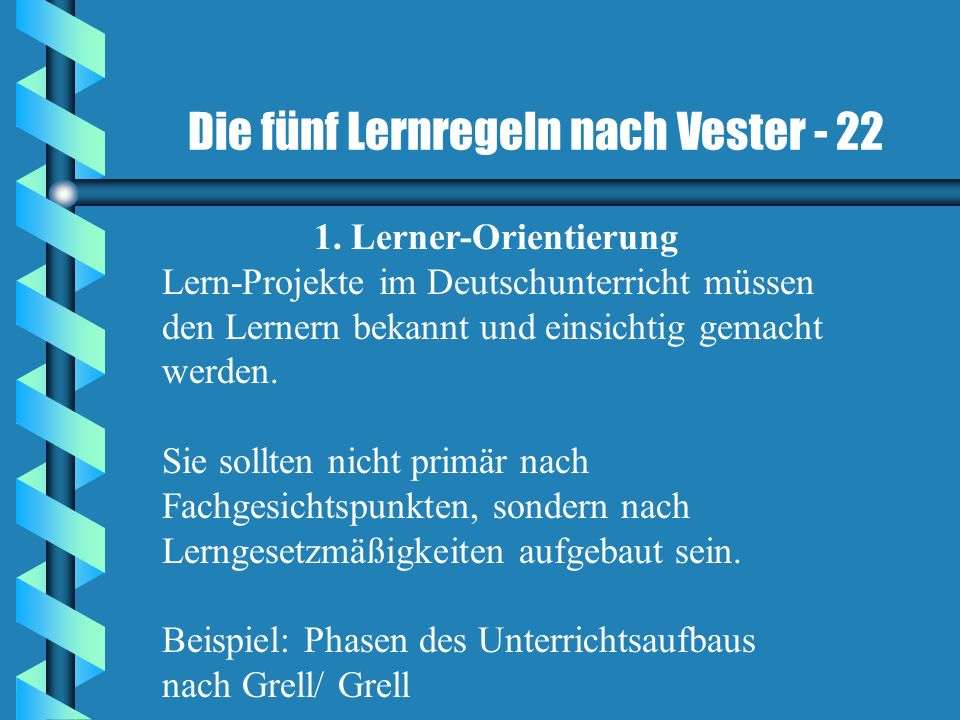 Die fünf Lernregeln nach Vester - 22