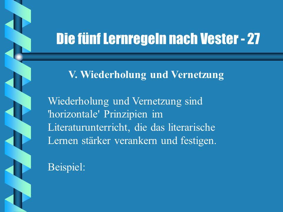 Die fünf Lernregeln nach Vester - 27