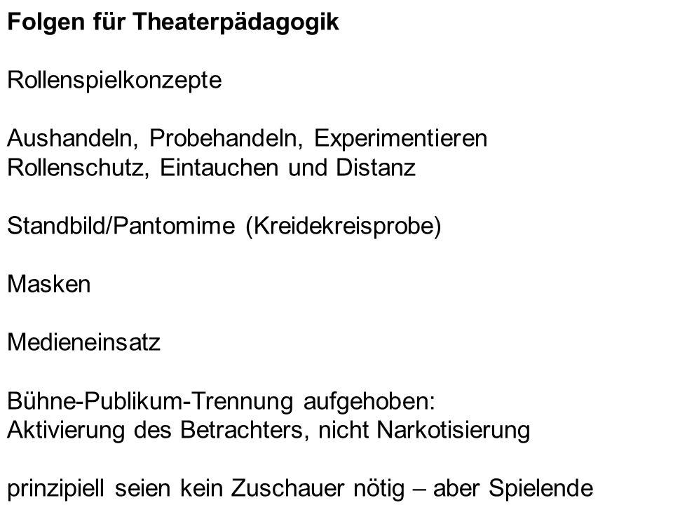 Folgen für Theaterpädagogik