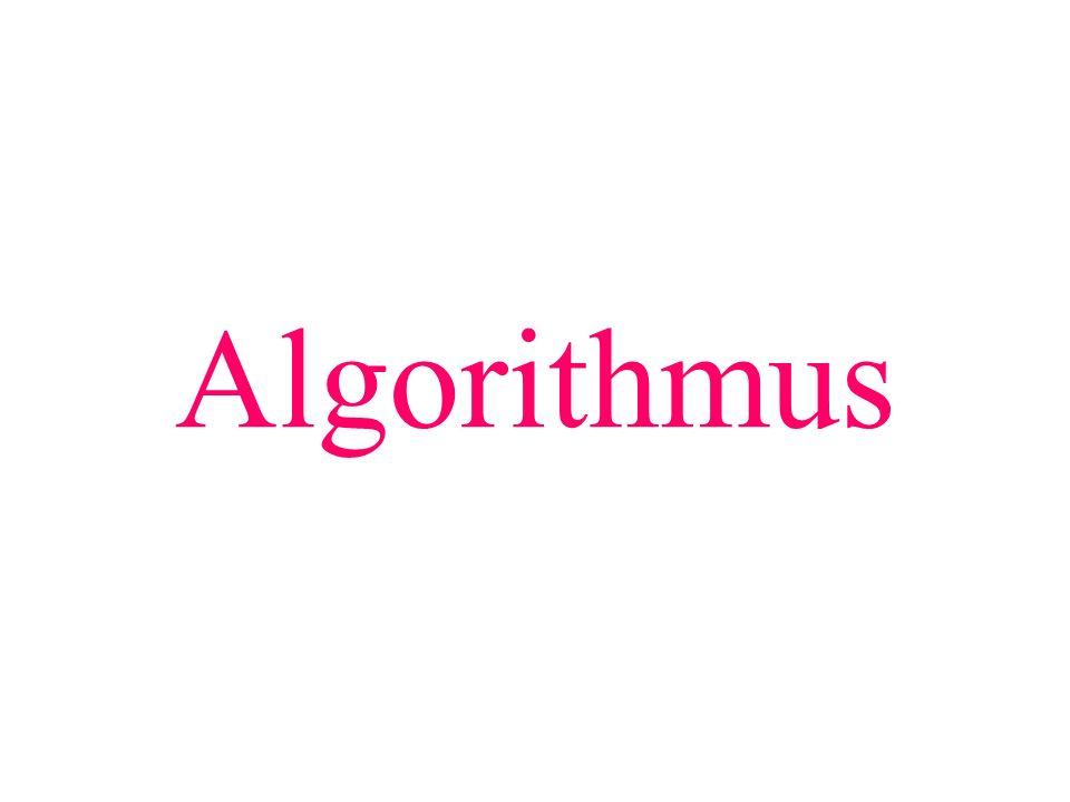 Algorithmus Teilziel: Begriff des Algorithmus verstehen.